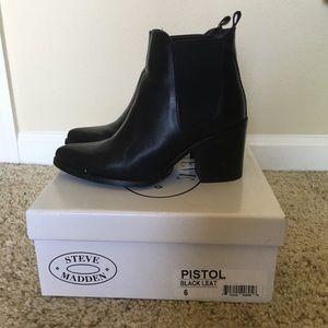 01df03d254a Steve Madden Black Pistol bootie